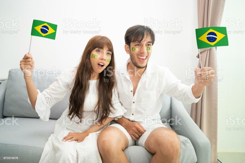 Futebol Brasil fã assistir Copa Internacional - foto de acervo