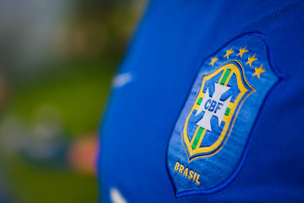 Segundo uniforme do time de futebol do Brasil - foto de acervo