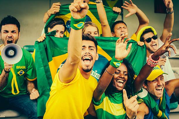Brasilianische Fan im Stadion – Foto