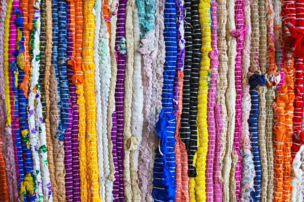 brasilien-textilien-souvenir - teppich baumwolle stock-fotos und bilder
