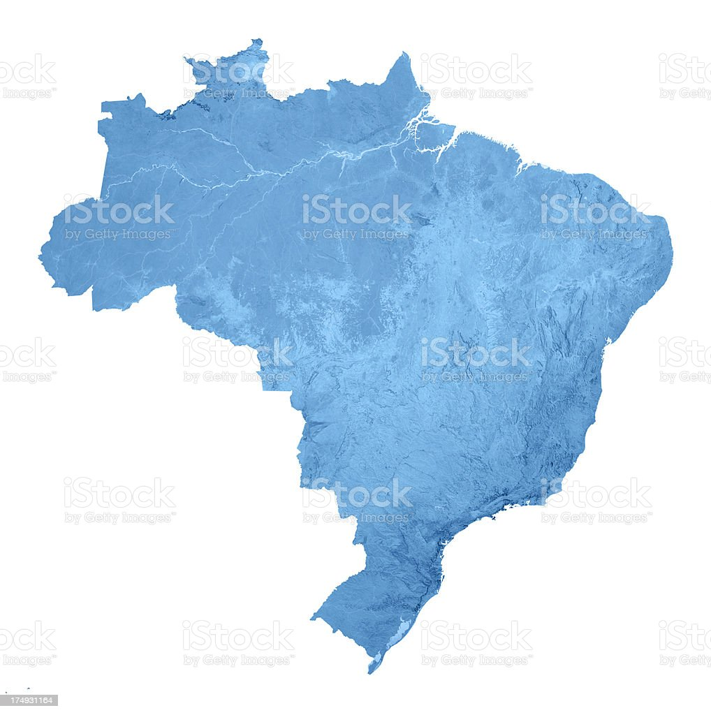 Brazil Topographic Map Isolated Stock Photo More Pictures Of