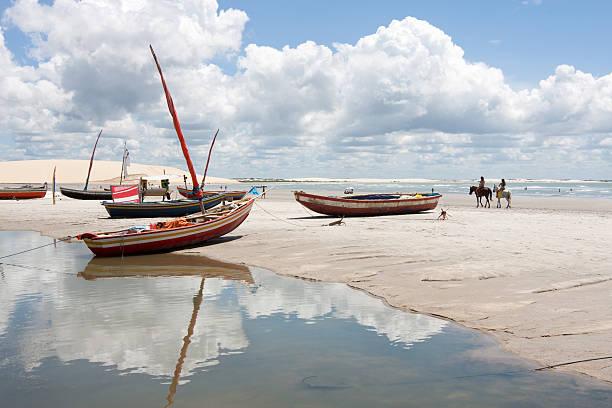 Brazil, Tropical Beach. Jericoacoara. stock photo