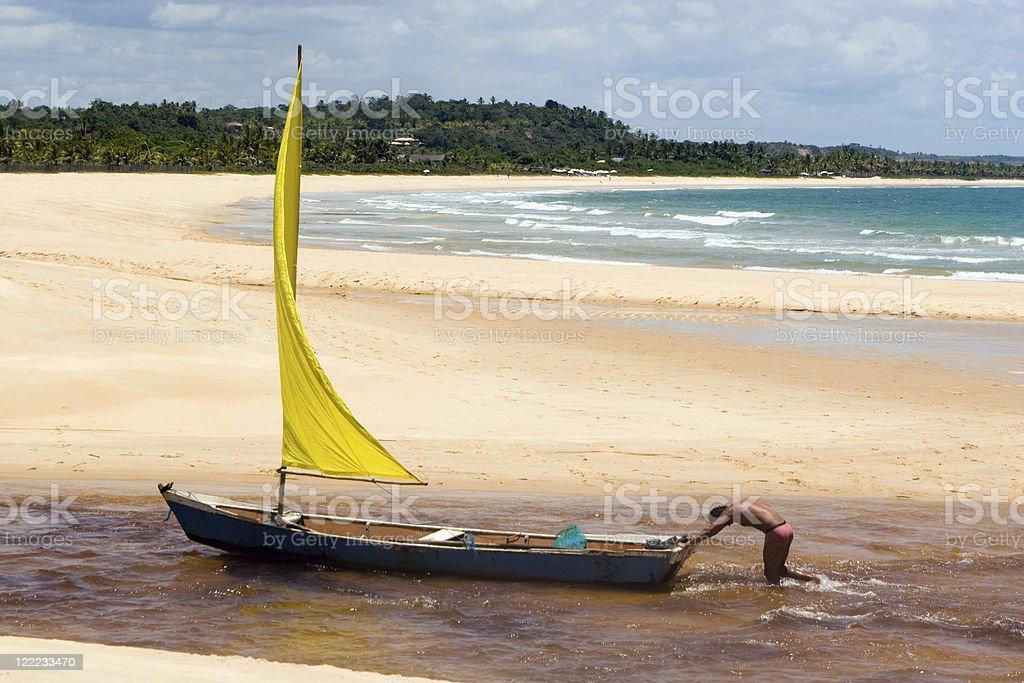 Brazil, Tropical Beach. royalty-free stock photo