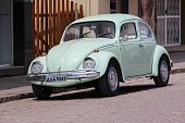 Morretes: Classic VW Beetle parked in Morretes, Brazil. More than 3.3 million VW Beetles have been produced in Brazil.