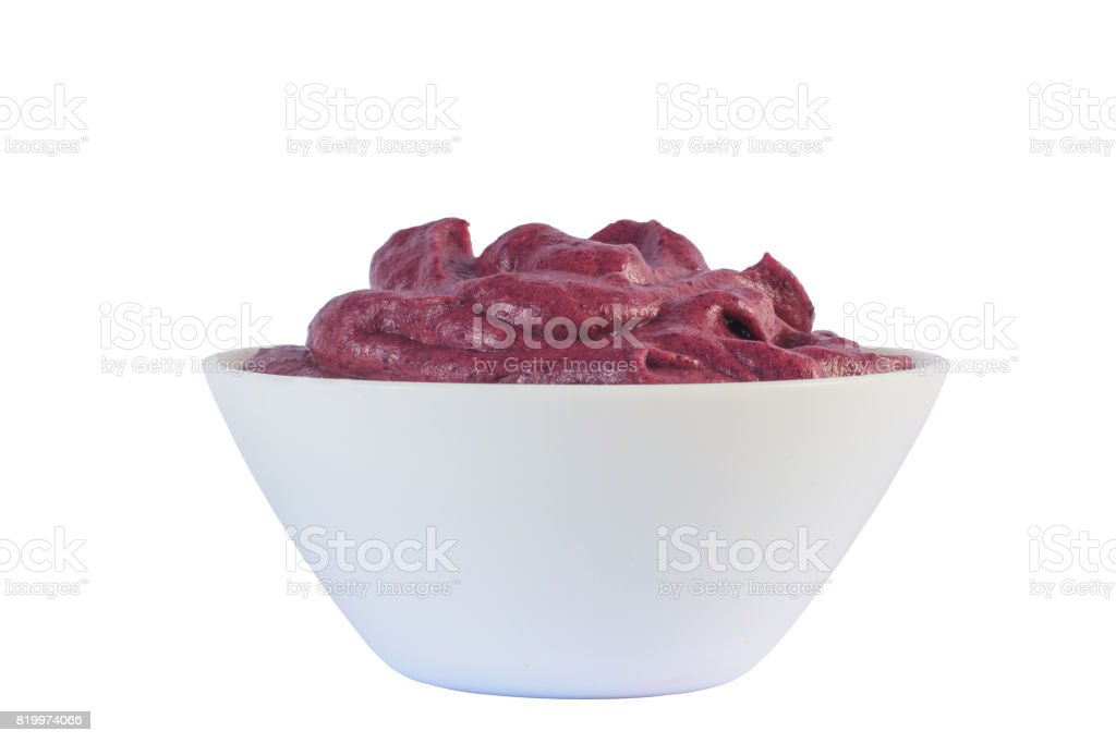 Brazilian Acai Into a Bowl stock photo