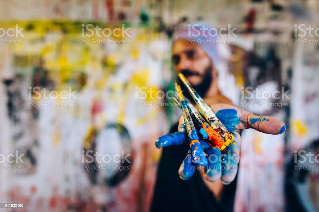 Brazilian artist stock photo