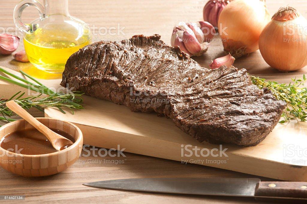 Brazilian barbecue meat stock photo