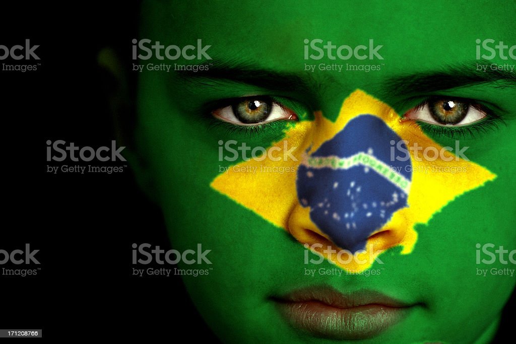 Brazilian boy stock photo