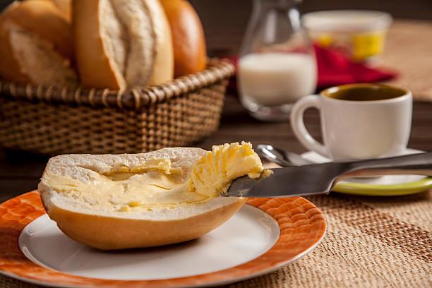 brazilian bread - boter stockfoto's en -beelden