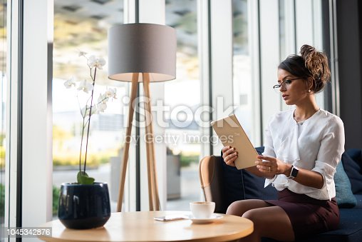 912944158istockphoto Brazilian businesswoman preparing for meeting. 1045342876