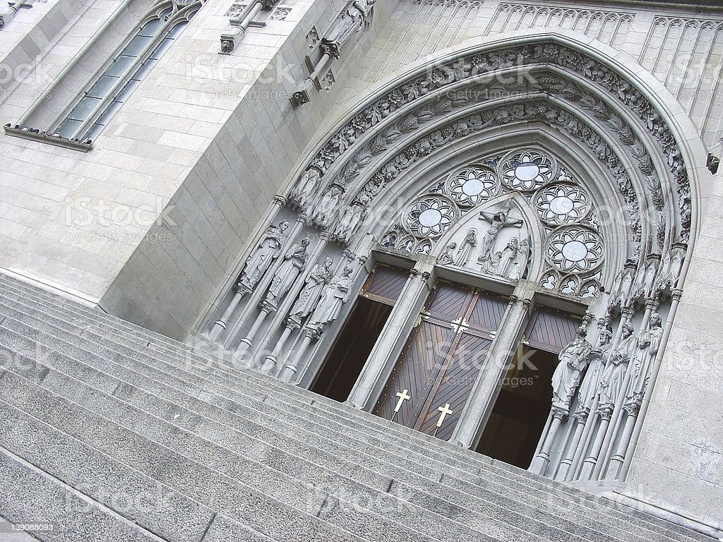 Brazilian cathedral portal royalty-free stock photo