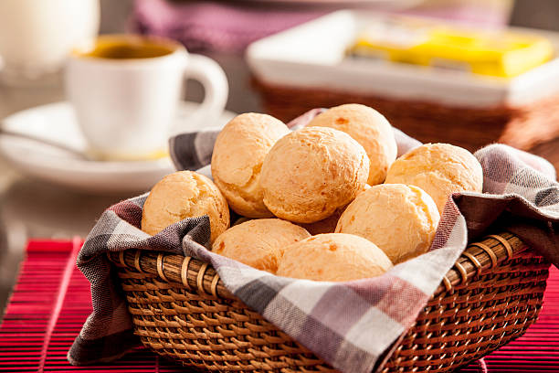 Brazilian cheese buns stock photo