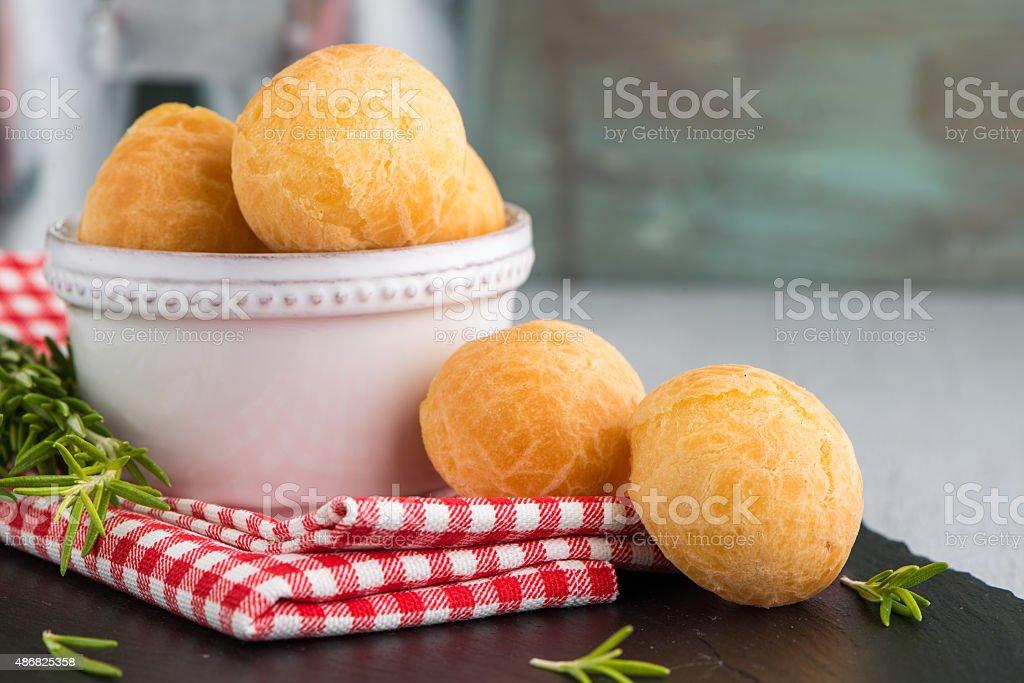 Brazilian cheese buns stock photo