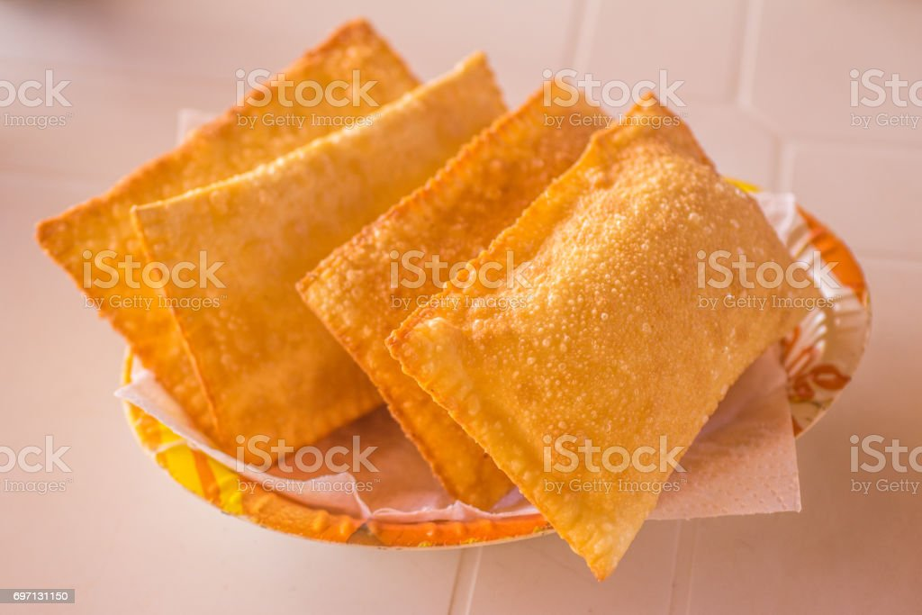 Brazilian Cheese Pastel stock photo
