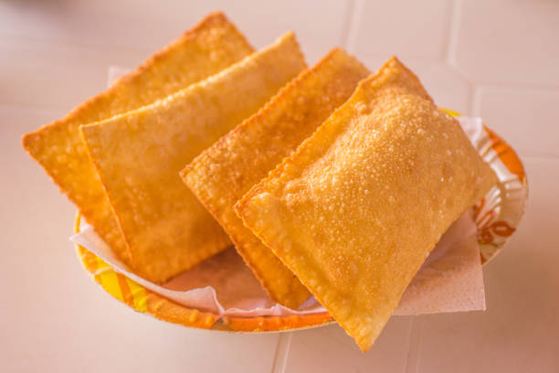 brazilian cheese pastel - pastel stock photos and pictures