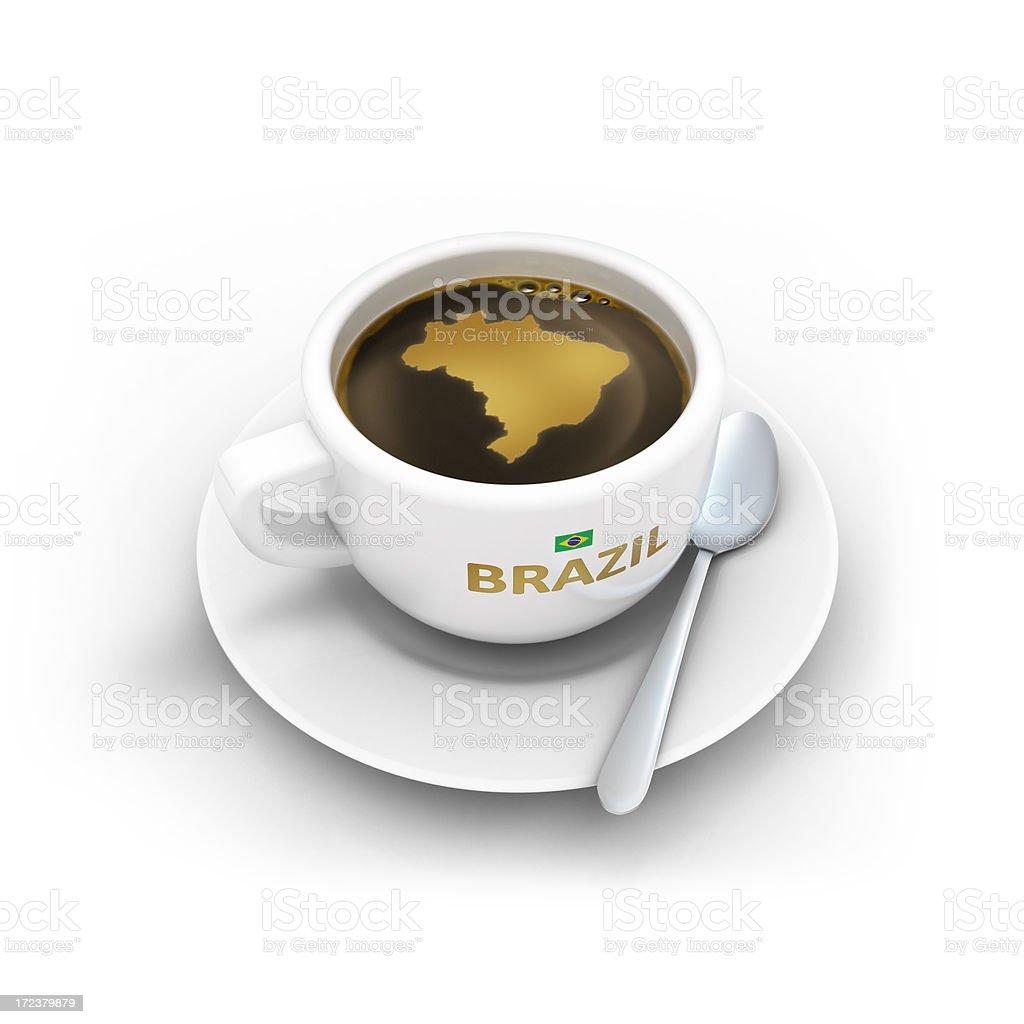 Xícara de café brasileiro - foto de acervo