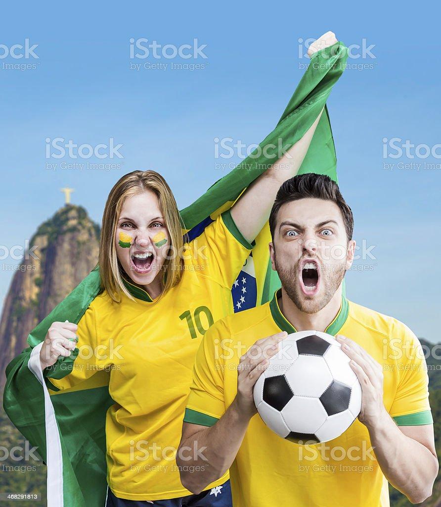 Brasileiro casal Comemore no Rio de Janeiro, Brasil - foto de acervo