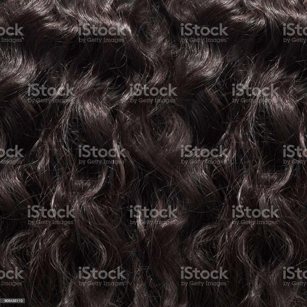 Textura de pelo tejido rizado brasileño - foto de stock