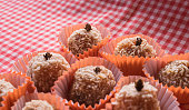 istock Brazilian dessert sweet of pumpkin, coconut and cinnamon. 806318514
