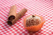 istock Brazilian dessert sweet of pumpkin, coconut and cinnamon. 806320970