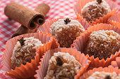 istock Brazilian dessert sweet of pumpkin, coconut and cinnamon. 806321038