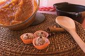 istock Brazilian dessert sweet of pumpkin, coconut and cinnamon. 806328418