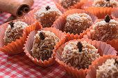 istock Brazilian dessert sweet of pumpkin, coconut and cinnamon. 806328476
