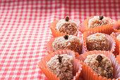 istock Brazilian dessert sweet of pumpkin, coconut and cinnamon. 806330822