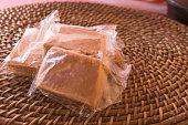 istock Brazilian dessert sweet of pumpkin, coconut and cinnamon. 806331006
