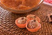 istock Brazilian dessert sweet of pumpkin, coconut and cinnamon. 806331242