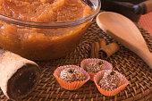 istock Brazilian dessert sweet of pumpkin, coconut and cinnamon. 806354786