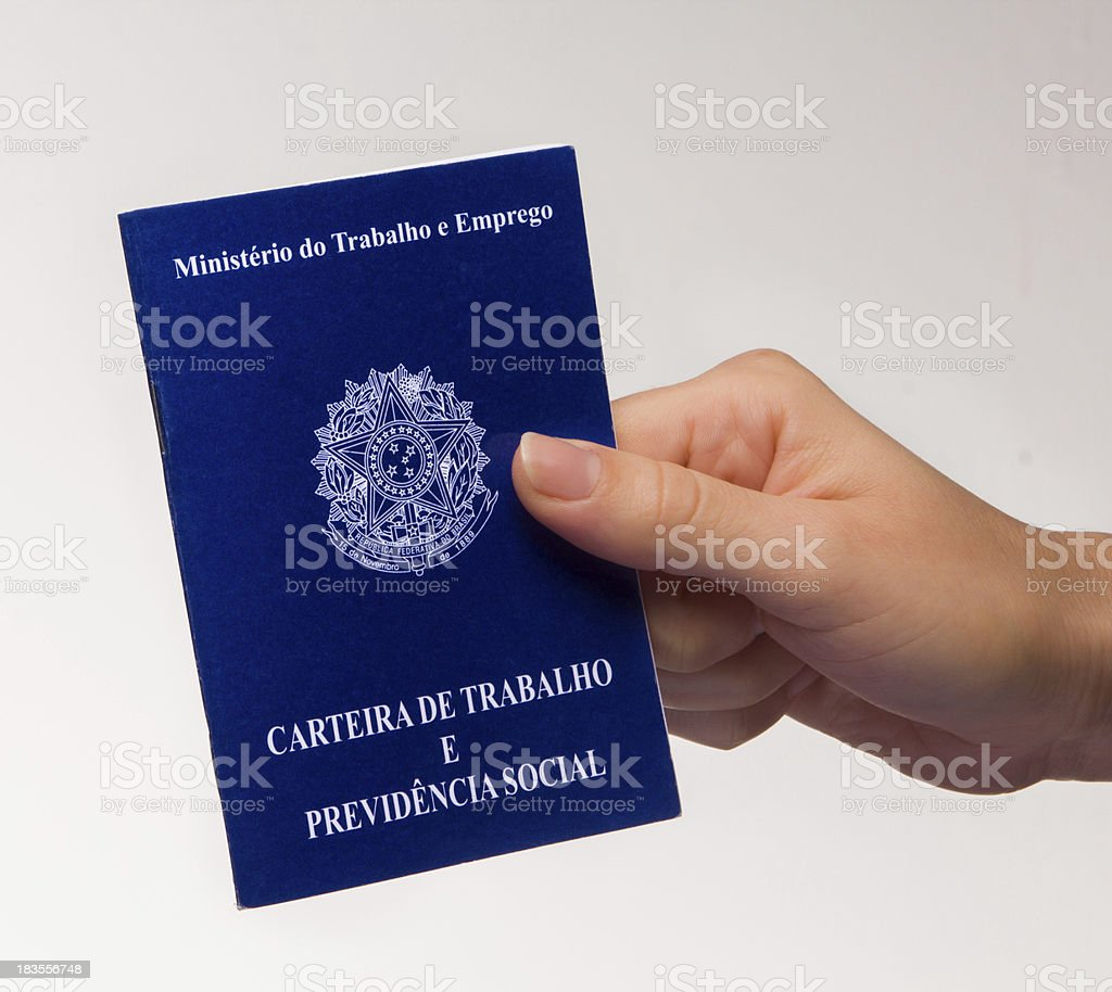 Brazilian document work royalty-free stock photo
