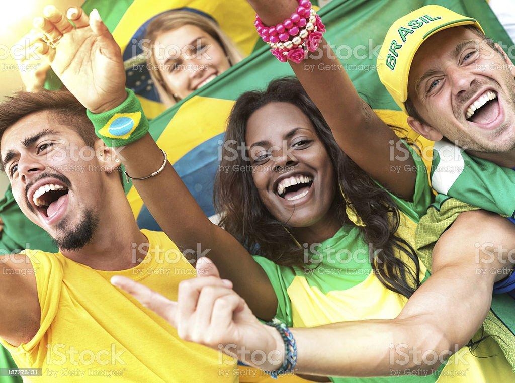 Brazilian fan royalty-free stock photo