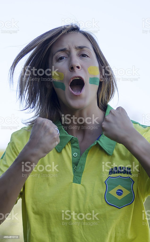 Hincha Brasilera stock photo