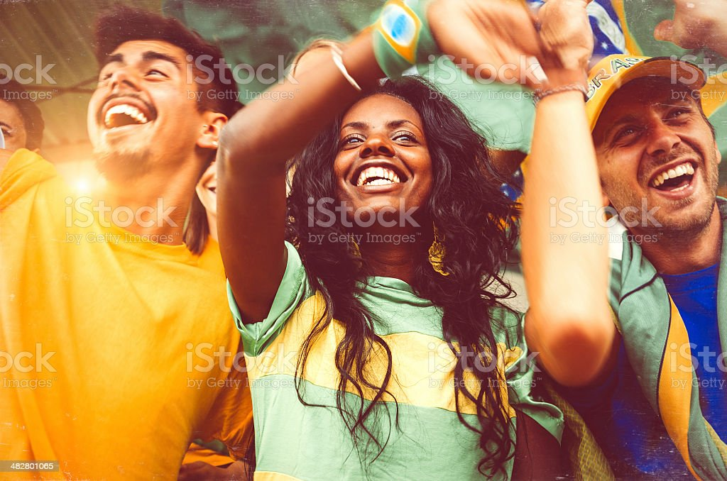 Fãs brasileiros no estádio - foto de acervo