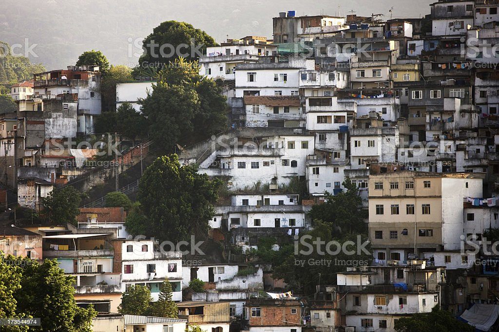 Brazilian Favela royalty-free stock photo