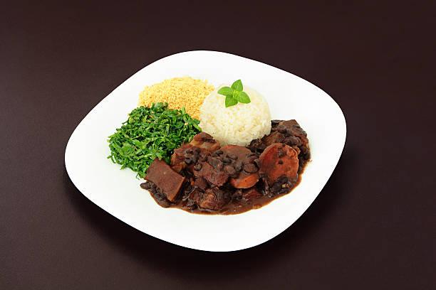 Brazilian Feijoada dish stock photo