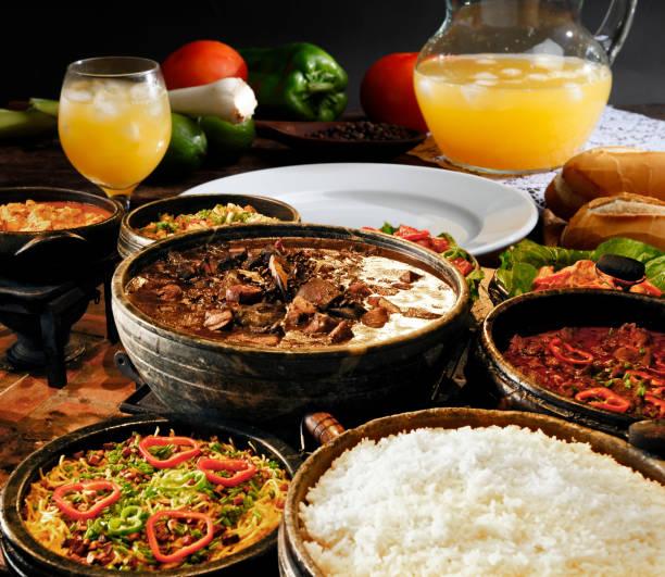 brasilianska feijoada food - ris basmat bildbanksfoton och bilder