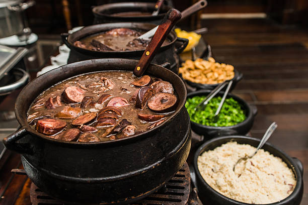 Brazilian Feijoada (Black Beans) stock photo