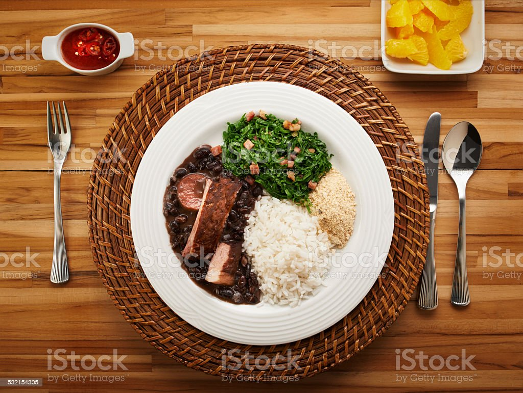 Brazilian feijoada stock photo