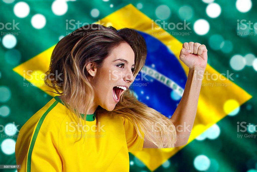 Bandeira Brasileira e ventilador - foto de acervo