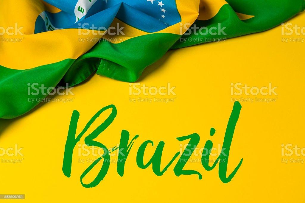 Fundo de Bandeira Brasileira - foto de acervo