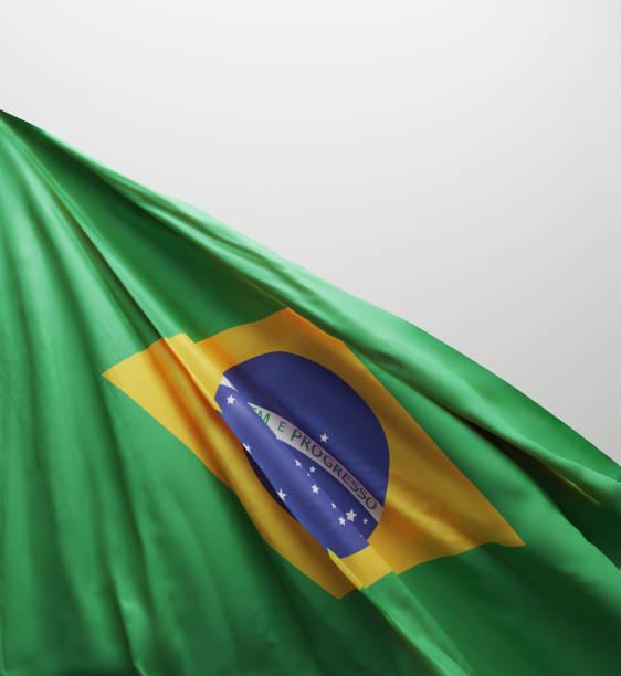 braziliaanse vlag, brazilië nationale kleuren achtergrond < < 3d rendering > > - brazilië stockfoto's en -beelden