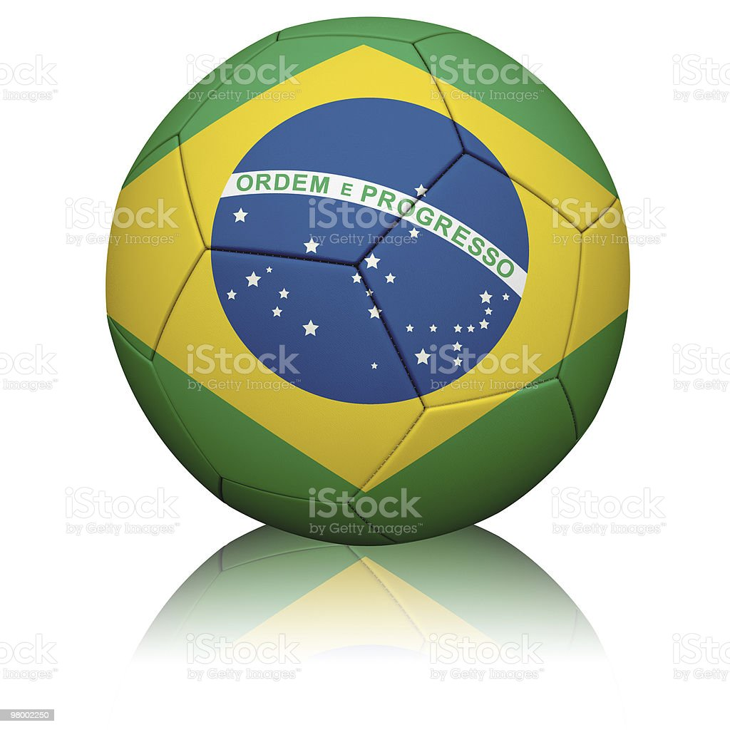 Brazilian Flag Football royalty-free stock photo
