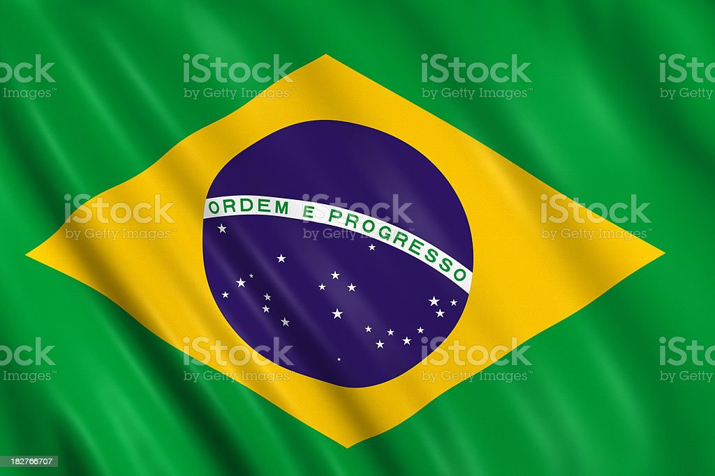 brazilian flag royalty-free stock photo