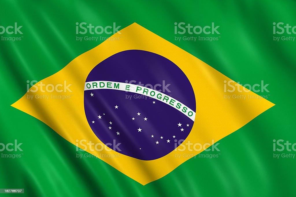 brazilian flag stock photo
