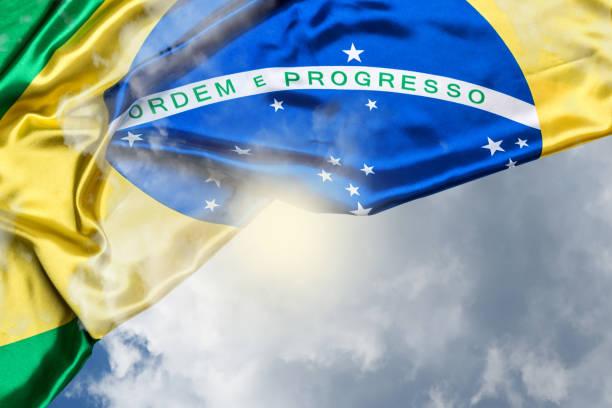 brasilianische flagge - freistaat stock-fotos und bilder
