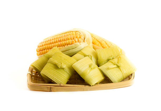 Brazilian food Pamonha stock photo