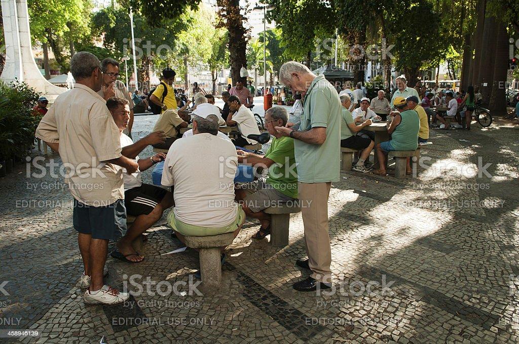 \'Rio de Janeiro, Brazil - January 21, 2012: A group of locals play...