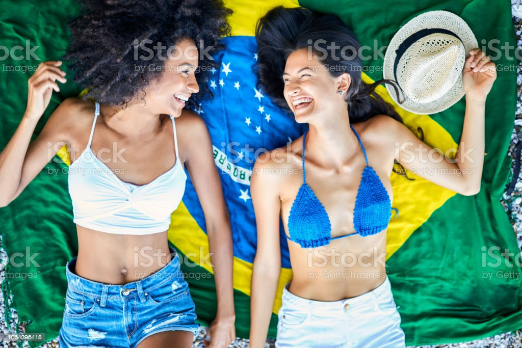 Brazilian girls. stock photo